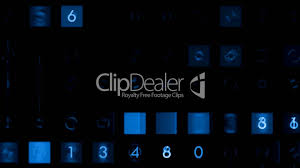computing square footage blue figure and square stock ticker business number background