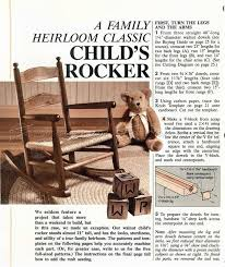 Woodworking Plans For Child S Table And Chairs by 24 Best Childs Rocking Chair Images On Pinterest Childs Rocking