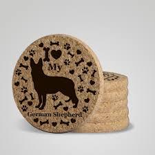 urban dog ring holder images I love my german shepherd quot premium coaster set add a rustic or jpg