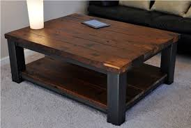 Rustic Metal And Wood Coffee Table Metal And Wood Coffee Table Shelf Sophisticated Metal And Wood
