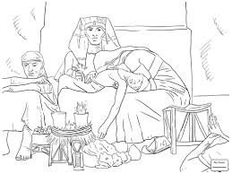 coloring pages for kids arts culture king david playing the harp