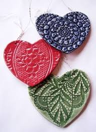 textured ornaments clay projects for
