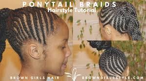 braids ponytail natural kids hair tutorial youtube