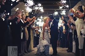 wedding sparklers go out with a coordinating sparkler exits
