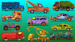 Youtube Halloween Movies For Kids Street Vehicles Scary Vehicles For Kids Halloween Youtube