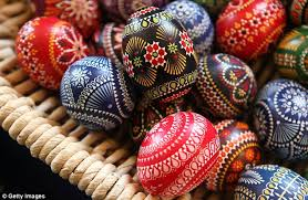 wax easter egg decorating pictured the painted easter eggs believed to ward evil