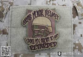 our grab your helmet patch is definitely not for the easily