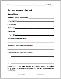 country research project fact sheet student handouts