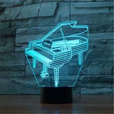 guitar 3d led night light table desk lamps elstey 3d optical