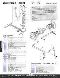 discovery ii front axle suspension rovers north classic land