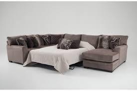 Chaise Queen Sleeper Sectional Sofa Luxe 4 Piece Left Arm Facing Innerspring Queen Sleeper Sectional
