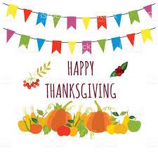 happy thanksgiving vector card template stock vector 609810348