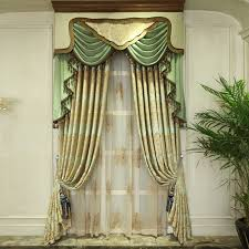 Green Bedroom Curtains with Modern Luxurious Green And Golden Jacquard Bedroom Curtains No
