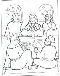 Incredible Decoration Last Supper Coloring Page The Coloring Pages Last Supper Coloring Page