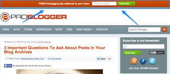 Top Bar Announcing The New Sticky Top Bar Plugin A Problogger Wordpress