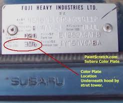 subaru touch up paint color code and directions for subaru