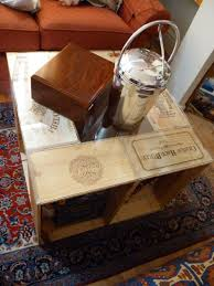 easy diy coffee table from wine crates offbeat home u0026 life