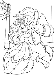 beauty and the beast dancing coloring pages for kids printable