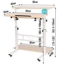 Laptop Desk Wheels by Split Top 45 Degree Tilted Adjustable Height Stand Up Standing