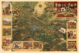 Mexico City Mexico Map by Mexico City 1930 Mexico D F Distrito Federal Pictorial Map