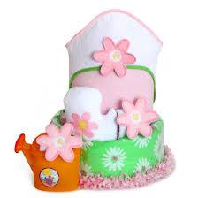 flower power cake baby gift
