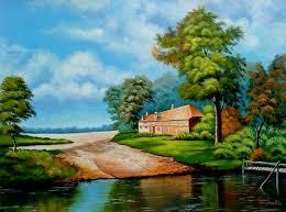 beautiful landscape painting tutorial acrylic portrait landscape