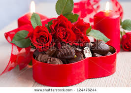 chocolates for s day roses chocolate candies valentines day stock photo 124476244
