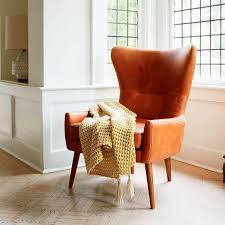 Armchairs Uk Only Erik Leather Wing Chair West Elm Uk