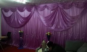 wedding backdrop curtains wedding stage decoration with curtains hotsale two layer wedding