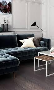 Blue Velvet Sectional Sofa by 15 Trendy Velvet Sofas For A Refined Touch Shelterness
