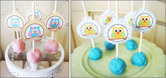 diy baby shower ideas cake pop tags owl baby diy baby shower ideas