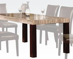 marble dining room table and chairs faux marble top dining table fraser by acme ac70130