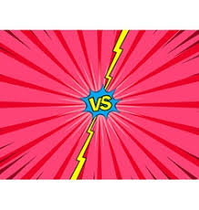 battle vs comic versus battle intro background royalty free vector