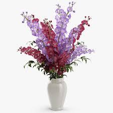 delphinium flowers 3d delphinium flowers in vase cgtrader