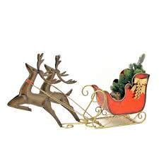 zaer 3 ft sleigh with reindeer zr169001 lg the home depot