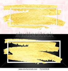 vector illustration gold paint smudge frame stock vector 712402774