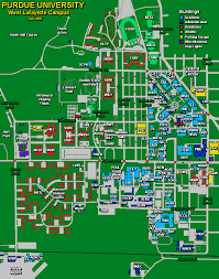 Indiana University Map Purdue Campus Map