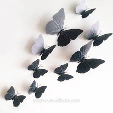 zooyoo 3d butterfly wall sticker design decal home decor room