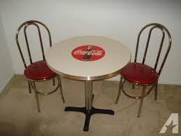 50 s diner table and chairs coca cola round diner table with chairs 50 s vintage retro style
