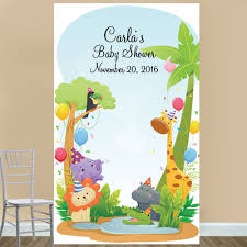 Jungle Backdrop Baby Safari Jungle Personalized Photo Booth Backdrop Baby Shower