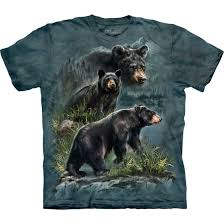 Ozzy The Grizzly Bear Picks The Eagles To Win The Super Bowl Local - the mountain three black bears tie dye t shirt tee liquid blue