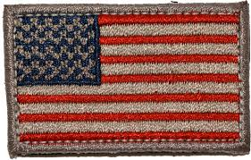 Reverse Color American Flag Mini Usa Flag Patches 1 5
