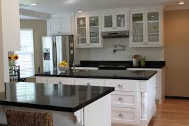 black countertop with black sink outofhome