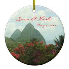 St Christmas Ornament Wedding - st lucia ornaments u0026 keepsake ornaments zazzle