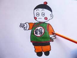 imagenes de goku para dibujar faciles con color dibujando y coloreando a chaoz dragon ball z drawing and