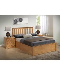 solid rubber wood storage bed best bargain furniture