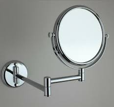 wall mounted extendable mirror bathroom 8 inch bathroom wall mounted makeup magnifying mirrors brass finish