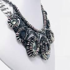 swarovski crystal black necklace images Swarovski 5142822 dramatic crystal necklace black and silver jpg