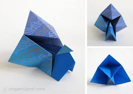 Easy Origami Peacock - origami how to fold an easy origami peacock or turkey
