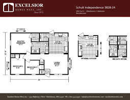 schult modular home floor plans schult independence 3828 24 excelsior homes west inc